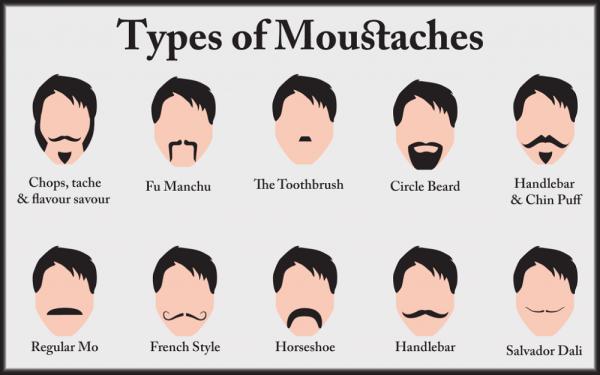 Elige bigote y únete a Movember