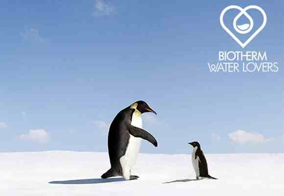Water lovers de Biotherm: proteger al Pingüino Emperador