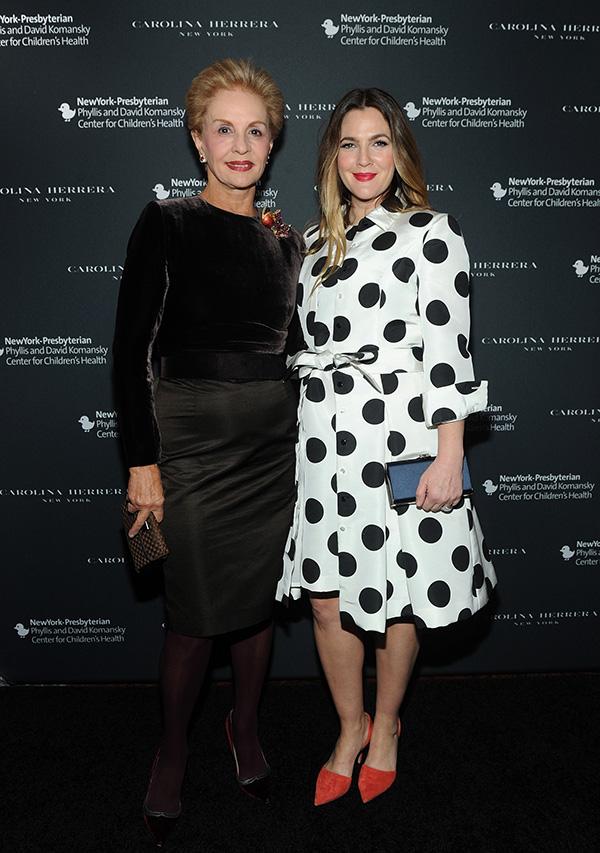 Carolina Herrera y Drew Barrymore