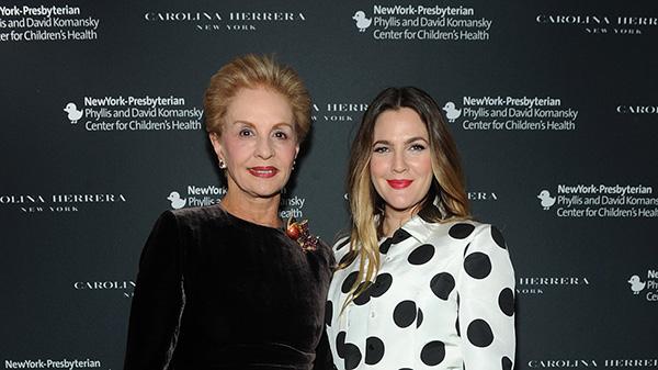 Carolina Herrera y Drew Barrymore, solidarias a favor de la salud infantil