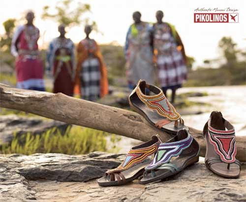 Sandalias del proyecto Maasai de Pikolinos