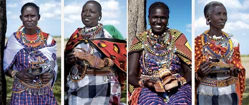 Mujeres Massai del proyecto de Pikolinos
