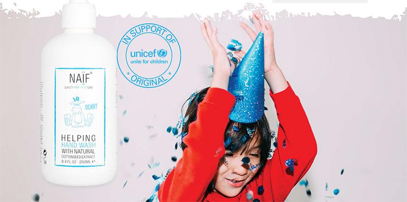 Lávate las manos con Naïf a favor de Unicef
