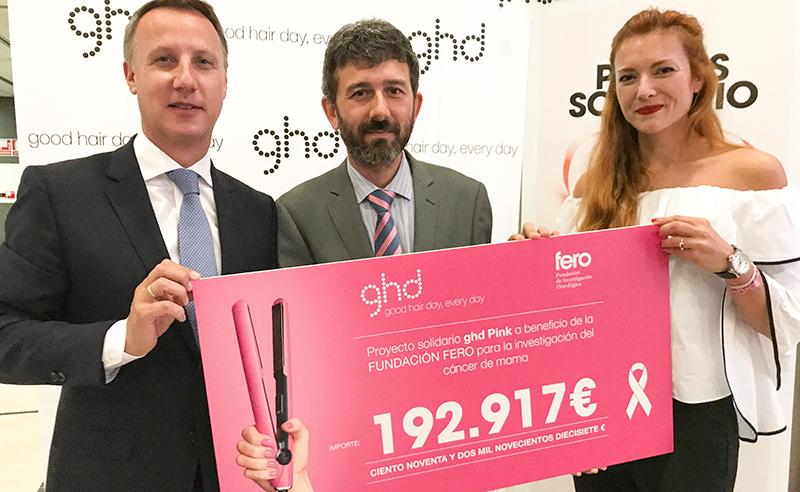 ghd Pink y FERO avanzan juntos contra el cáncer